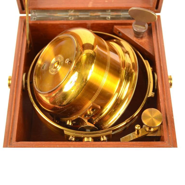 Marine Chronometer Signed Thomas Mercer Ltd. For Sale 1