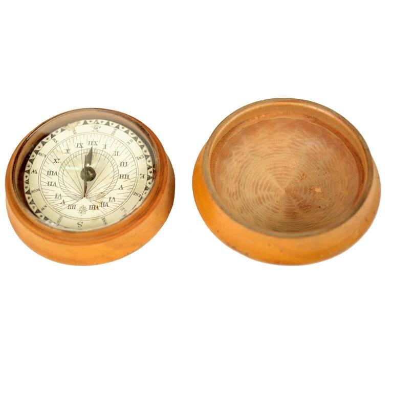 Rare Antique Compass And Sundial Together At 1stdibs