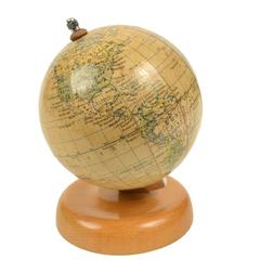 Small Terrestrial Globe Signed Raths Politischer Erdglobus Made in the 1950s