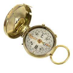 Magnetic Compass for Nautical Bearing Made in circa 1918