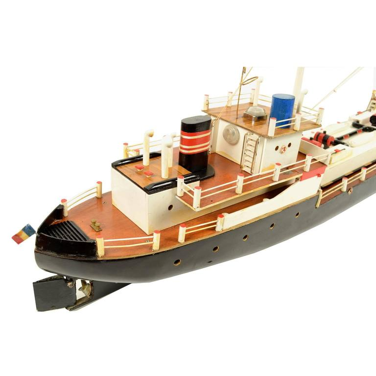 Mid-20th Century French Ship Model Made in the 1950s For Sale