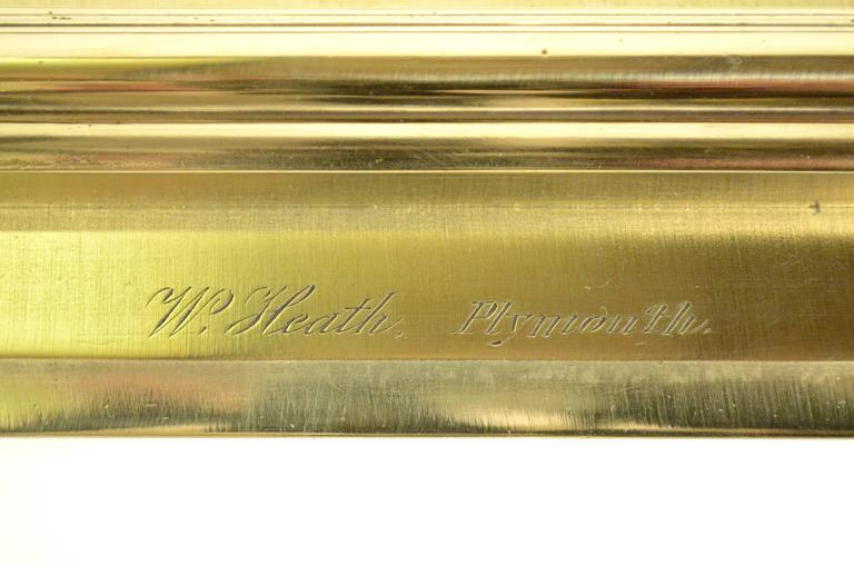 Brass Parallels Signed W. Heath Plymouth 1860 circa In Excellent Condition For Sale In Milan, IT