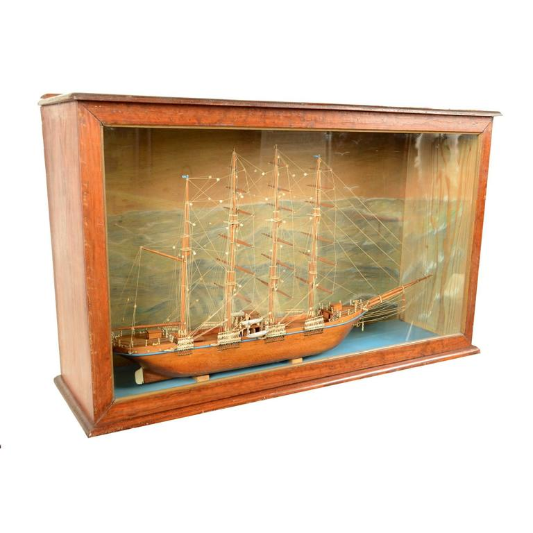 Scale Model Of A Ship French Manufacture Of 1950s For Sale