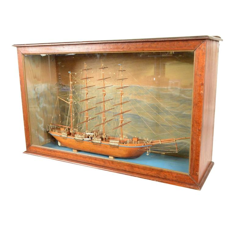 Scale model of a ship french manufacture of 1950s for sale Scale model furniture