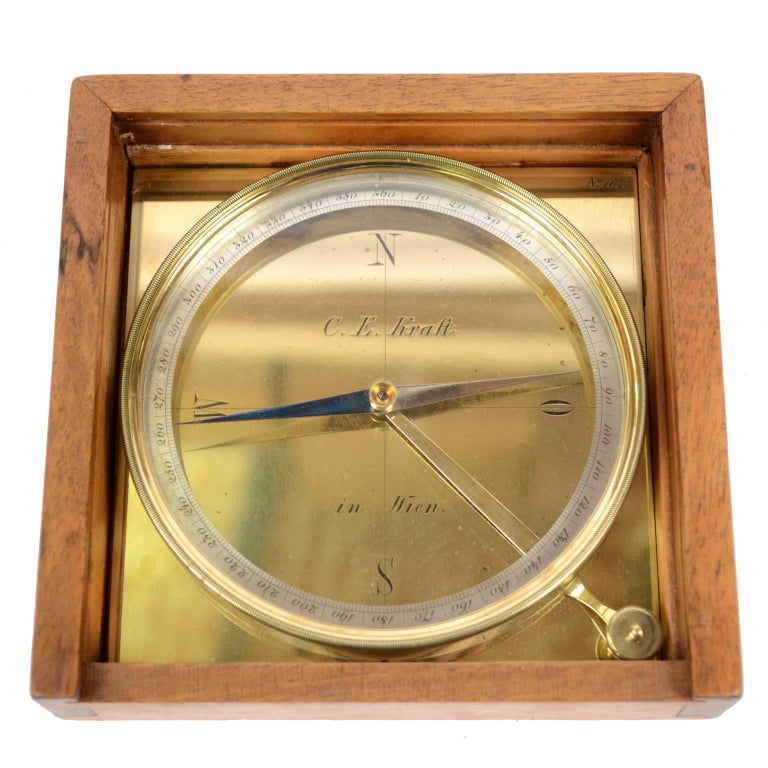 Brass Topographic Compass Made in Wien