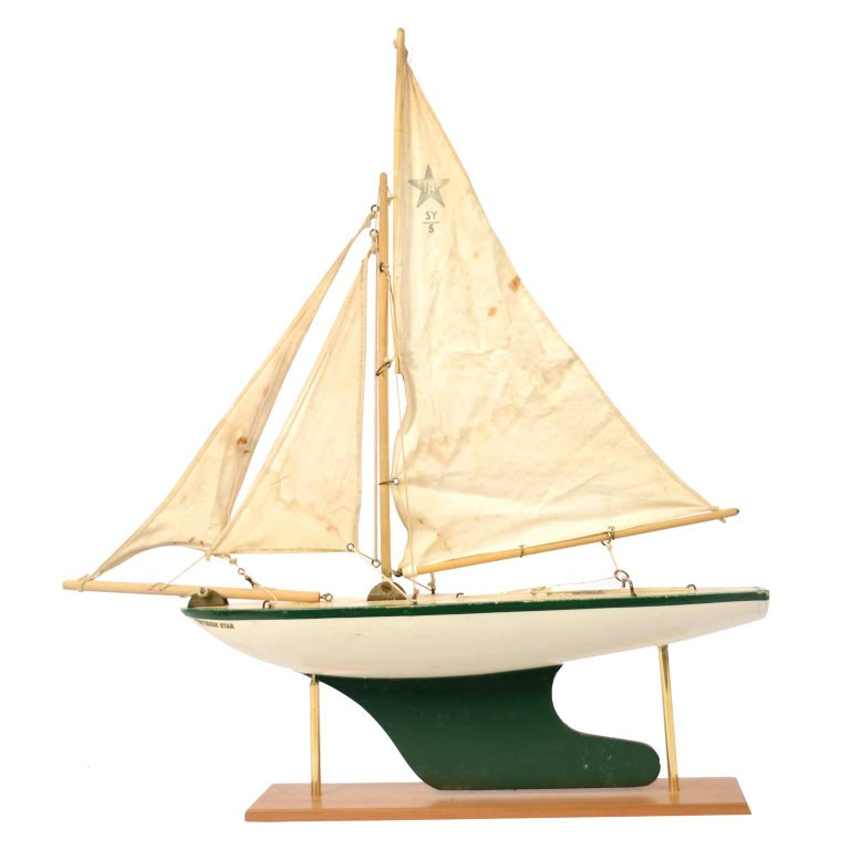Wooden Toy Boat Probably Made in the 1960s
