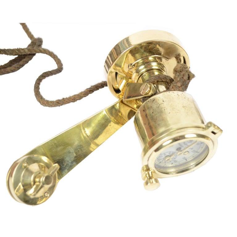 Brass Log Signed Walker's Excelsior IV Patent Log, 1920 circa For Sale 2