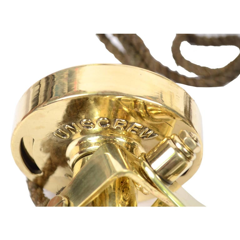 Brass Log Signed Walker's Excelsior IV Patent Log, 1920 circa For Sale 1