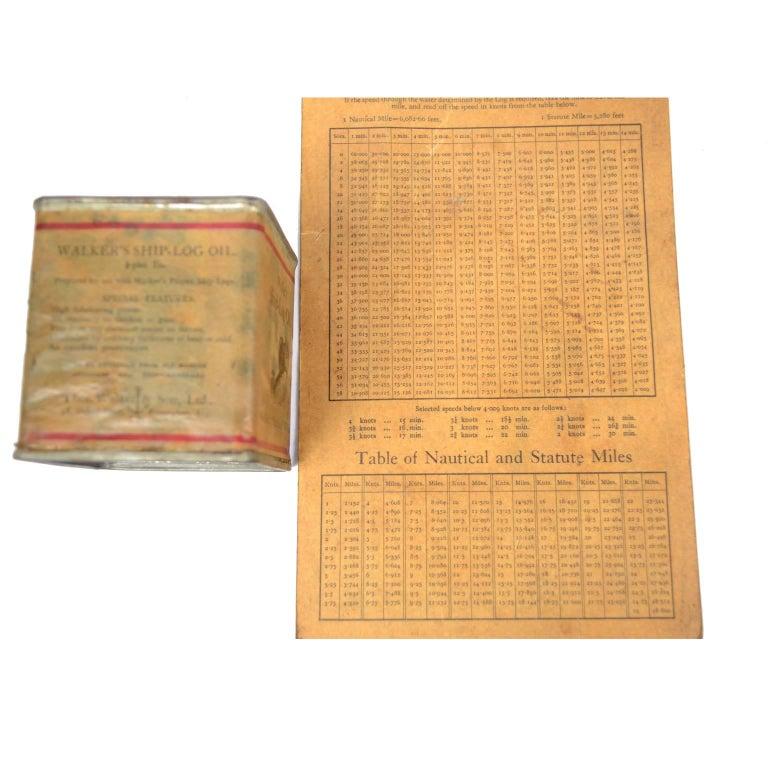 Brass Log Signed Walker's Excelsior IV Patent Log, 1920 circa For Sale 3