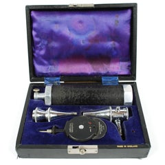 Otoscope and Ophthalmoscope Complete with Accessories Dated Back to 1950s