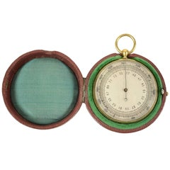 Barometric Altimeter, Brass and Glass, Early 1900