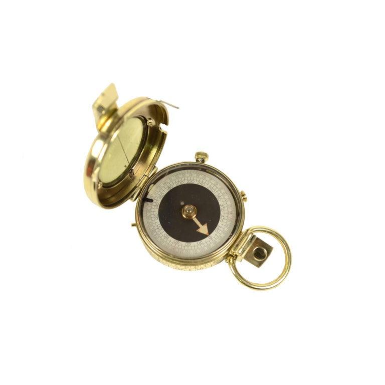 Brass nautical compass made in circa 1918