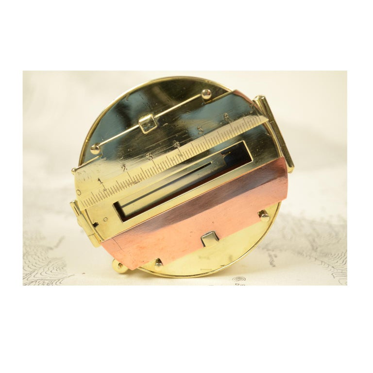 Magnetic Compass for Topographers Made of Brass In Excellent Condition For Sale In Milan, IT