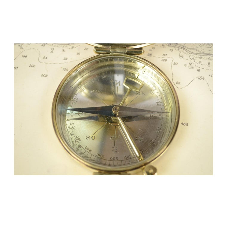 Late 19th Century Magnetic Compass for Topographers Made of Brass For Sale