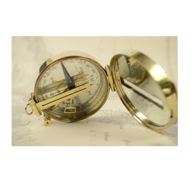Magnetic Compass for Topographers Made of Brass For Sale 2