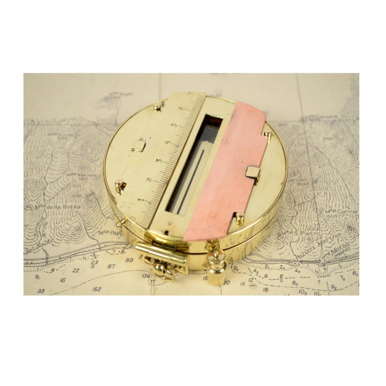 Magnetic Compass for Topographers Made of Brass For Sale 3