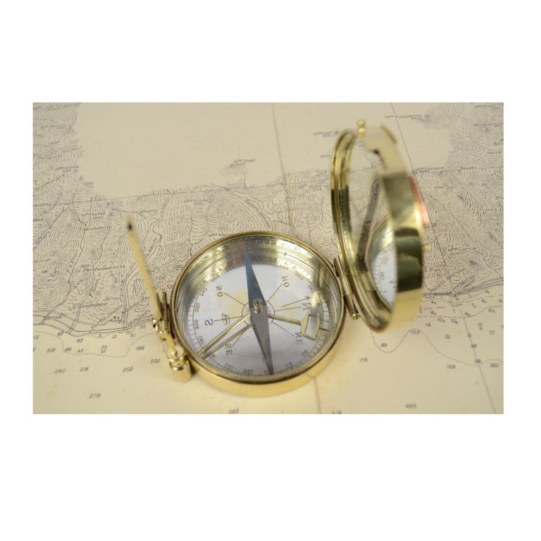Magnetic Compass for Topographers Made of Brass For Sale 6