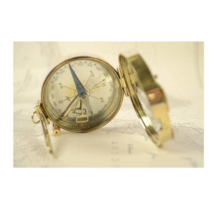 Magnetic Compass for Topographers Made of Brass For Sale 7