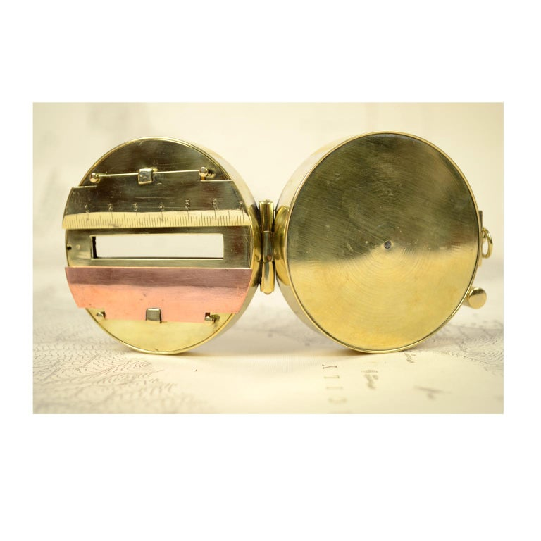 Magnetic Compass for Topographers Made of Brass For Sale 8