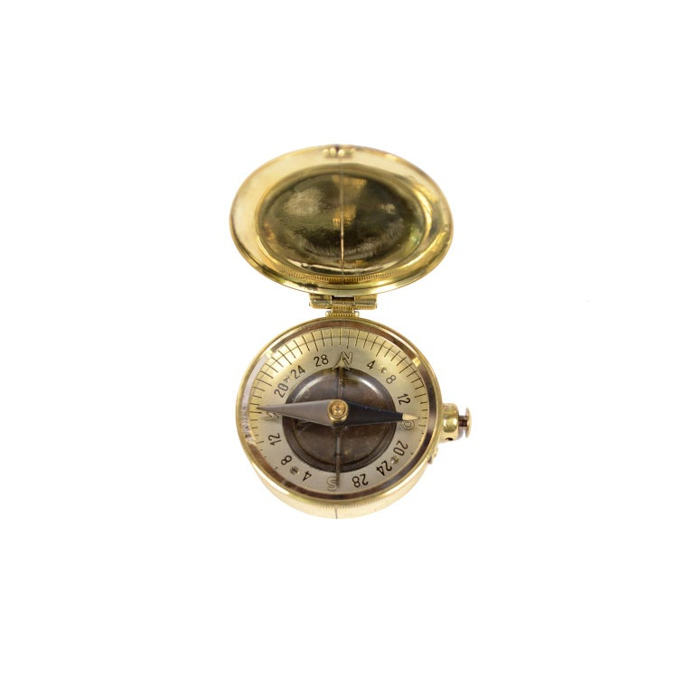 Brass Compass Made in the 1920s