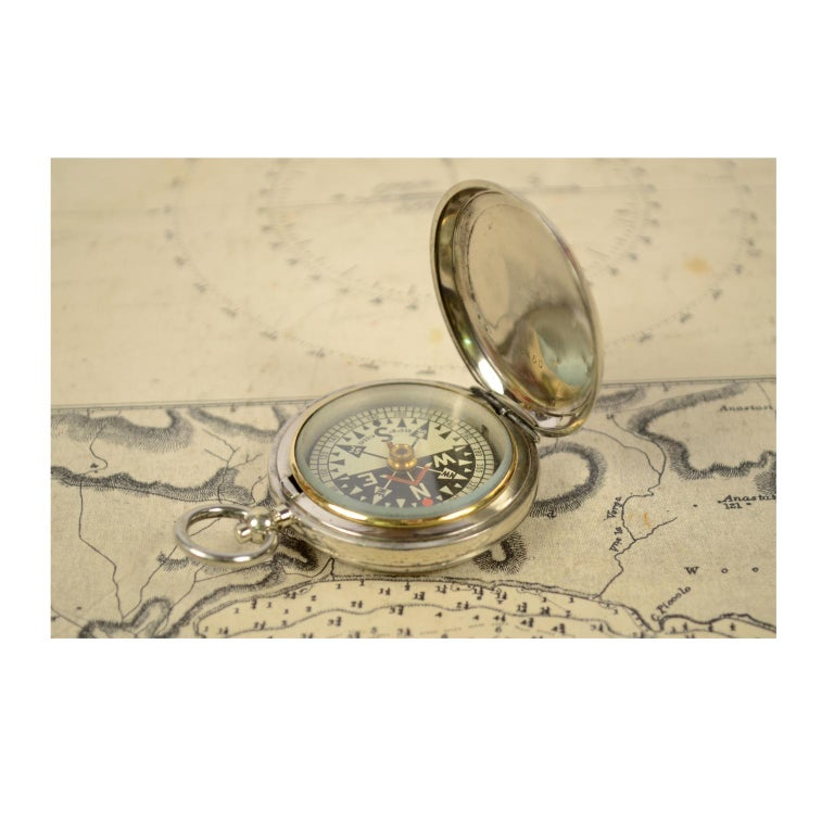 Early 20th Century Pocket Compass for RAF Officers, 1915 For Sale