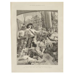Page from the Magazine The Illustrated London Depicting Pirates