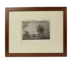 Print Depicting the Bombardment of Cadiz by the French Navy, 1823