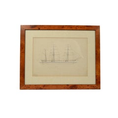 Print Depicting a Schooner Made in the Mid-19th Century