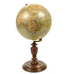 Globe Published in the Second Half of the 19th Century