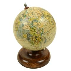 Small Terrestrial Globe Edited by Raths Made in the 1950s
