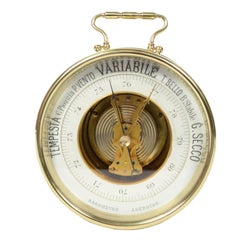 Italian Barometer Made at the End of the 19th Century