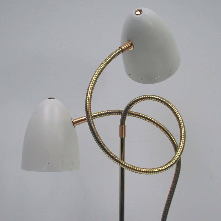 Italian 1950s Double Gooseneck Table Lamp At 1stdibs
