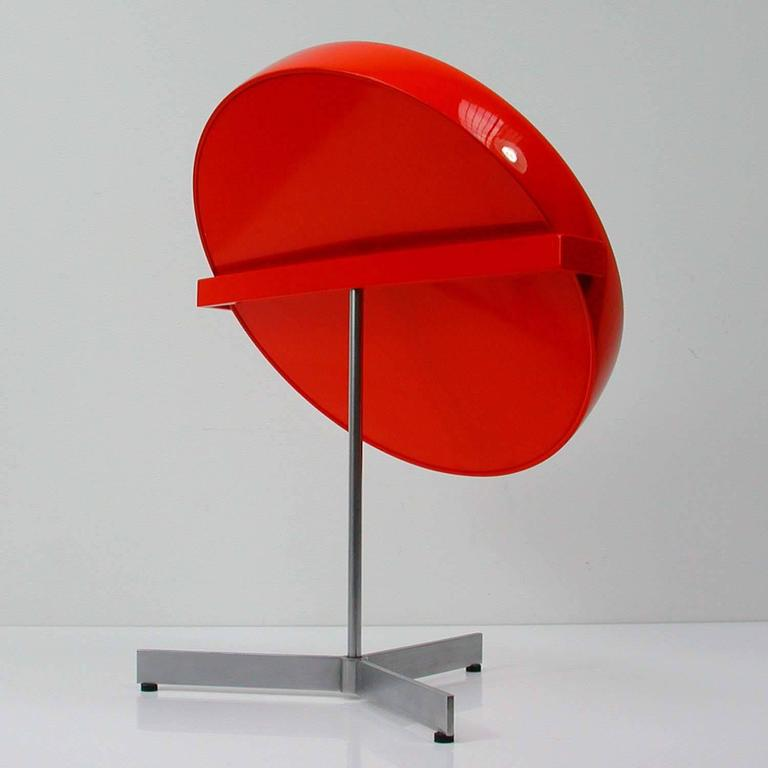 Mid-Century Uno and Osten Kristiansson Table Mirror for Luxus Vittsjö In Good Condition For Sale In Nümbrecht, NRW