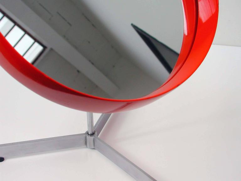 Mid-Century Uno and Osten Kristiansson Table Mirror for Luxus Vittsjö For Sale 1