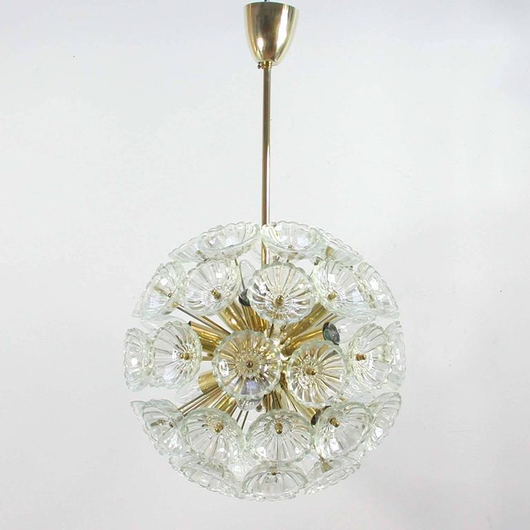 1960s German Sputnik Dandelion Twelve-Light Chandelier 2