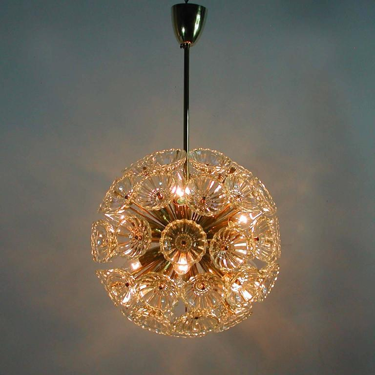 1960s German Sputnik Dandelion Twelve-Light Chandelier For Sale 1