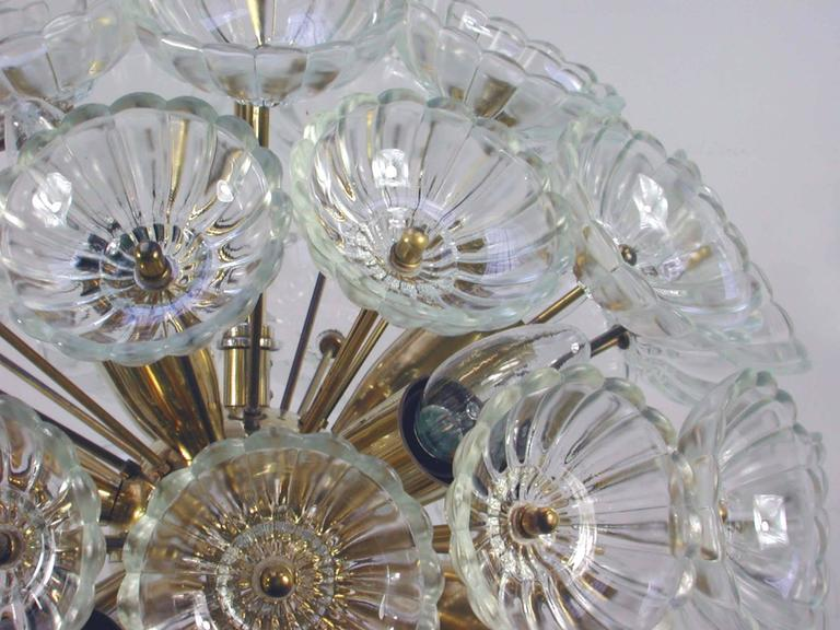 Mid-Century Modern 1960s German Sputnik Dandelion Twelve-Light Chandelier For Sale