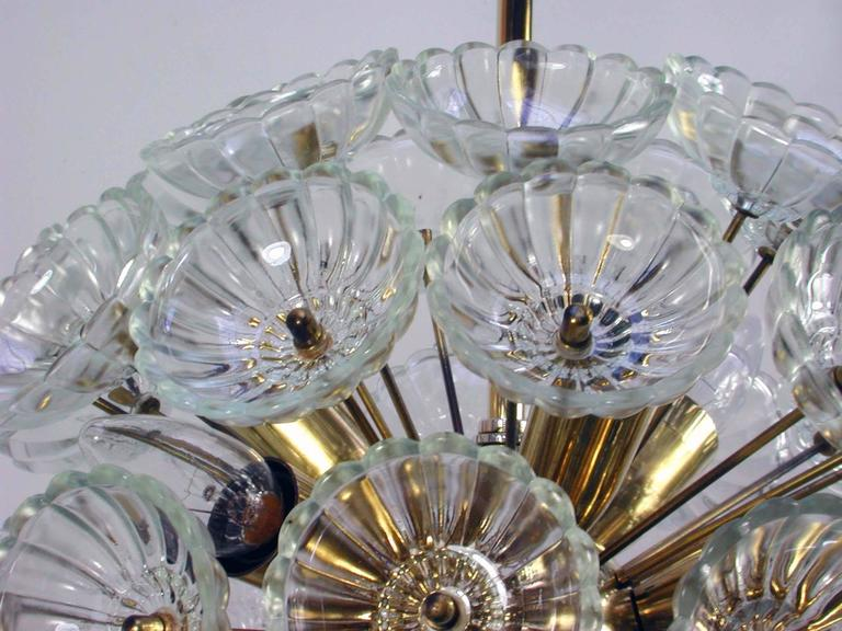 1960s German Sputnik Dandelion Twelve-Light Chandelier In Excellent Condition For Sale In Koeln, DE