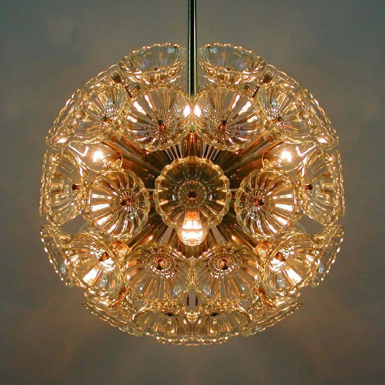 1960s German Sputnik Dandelion Twelve-Light Chandelier For Sale 2