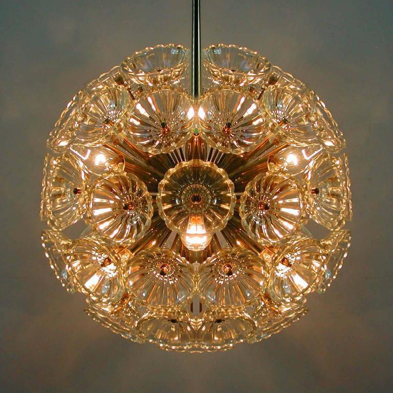 1960s German Sputnik Dandelion Twelve-Light Chandelier 8