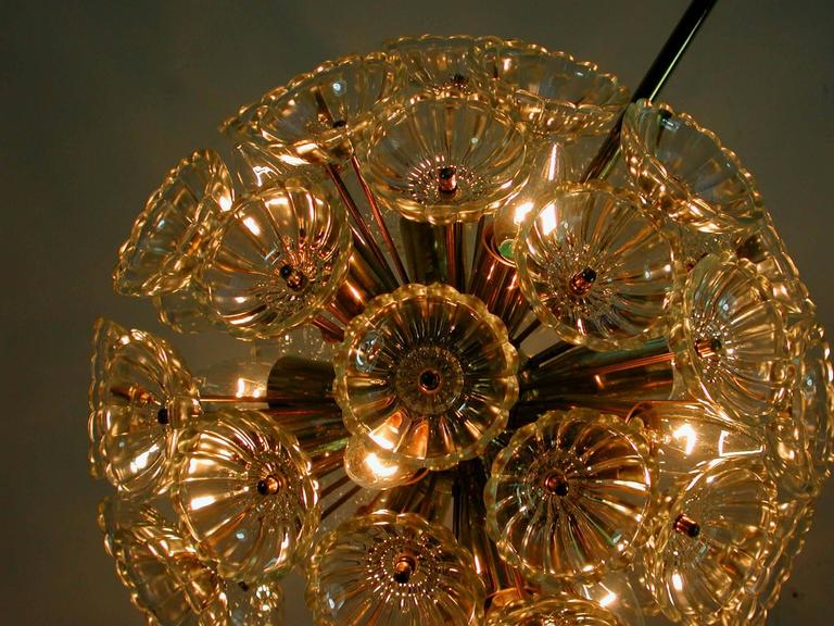 1960s German Sputnik Dandelion Twelve-Light Chandelier 9
