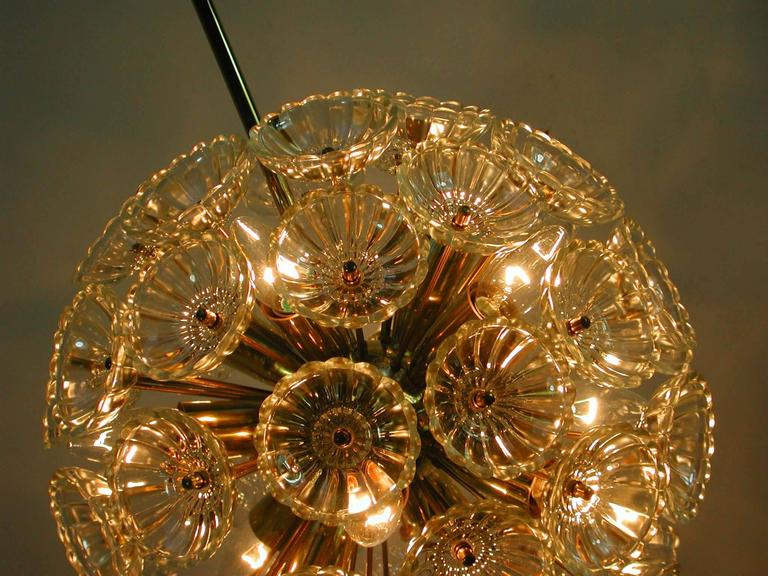 1960s German Sputnik Dandelion Twelve-Light Chandelier For Sale 4