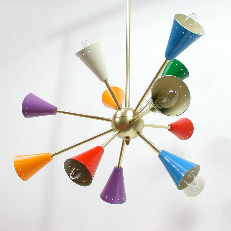 This Multi Color Sputnik Chandelier Was Made In Italy The 1950s Manner