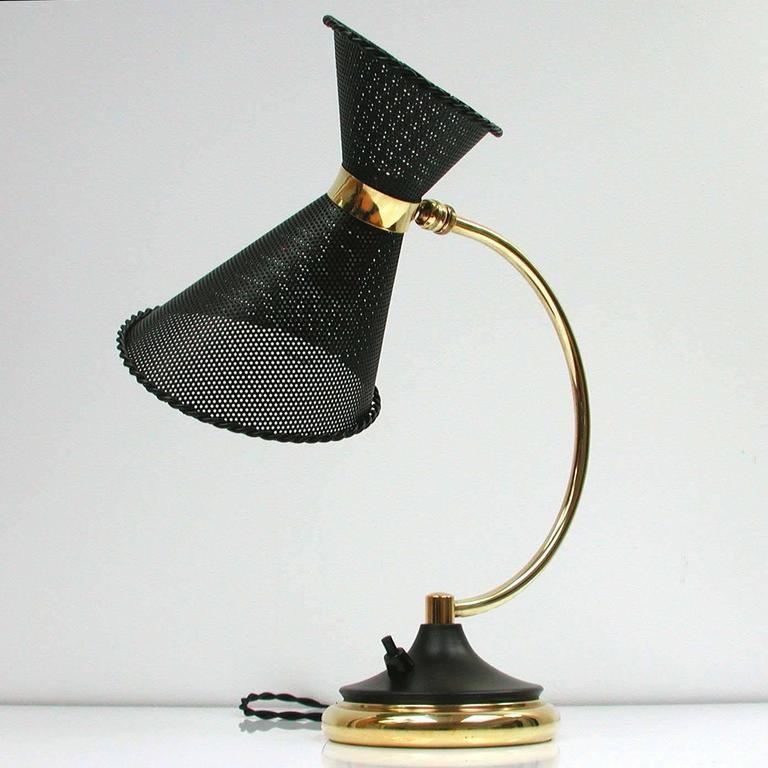 Mid-20th Century 1950s, Midcentury, French Mathieu Matégot Style Table Lamp For Sale