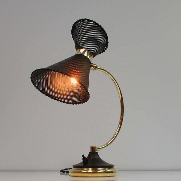 1950s, Midcentury, French Mathieu Matégot Style Table Lamp For Sale 1