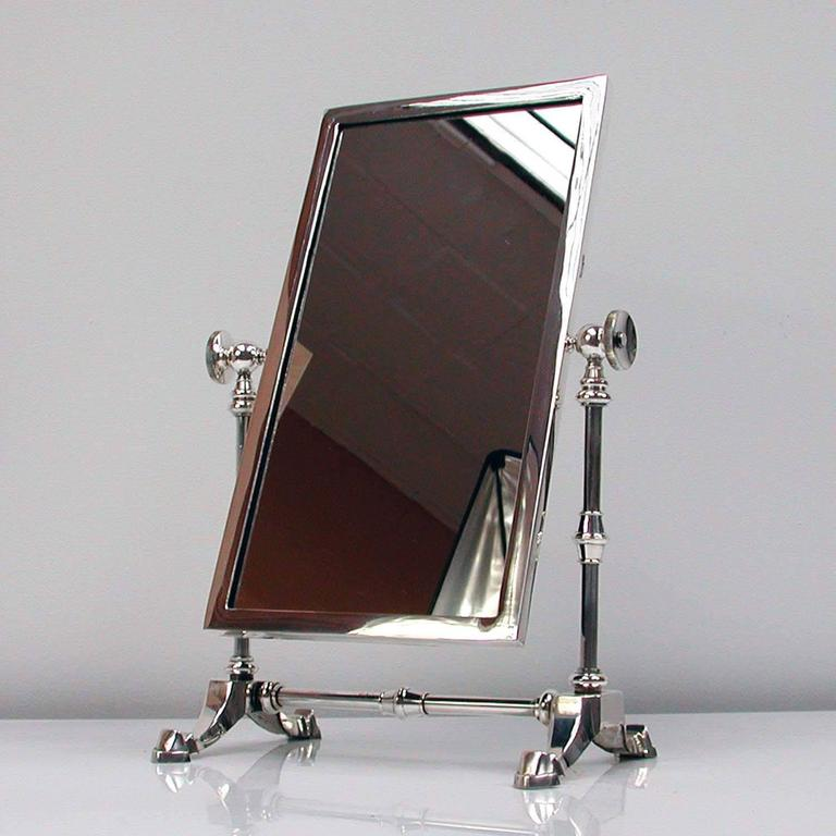 Late Victorian Silver Plated Vanity Mirror by James Dixon & Sons For Sale 5