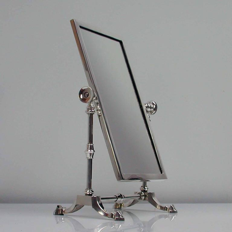 British Late Victorian Silver Plated Vanity Mirror by James Dixon & Sons For Sale