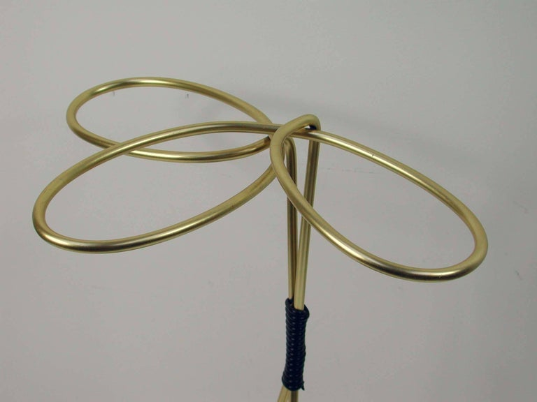 1950s Midcentury Austrian Loop Umbrella Stand / Cane Stand For Sale 3