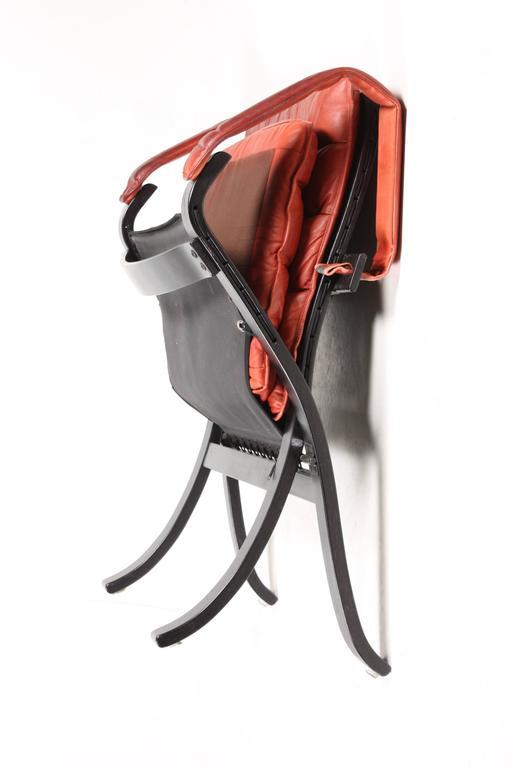 Norwegian Pair of Lounge Chairs Model
