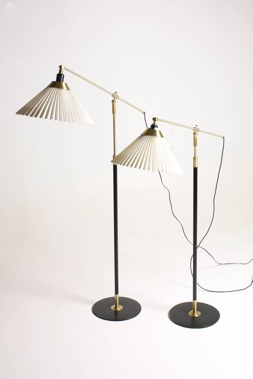 Pair of Adjustable Floor Lamps by Le Klint For Sale 1